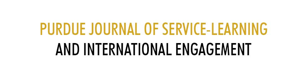 Purdue Journal of Service-Learning and International Engagement